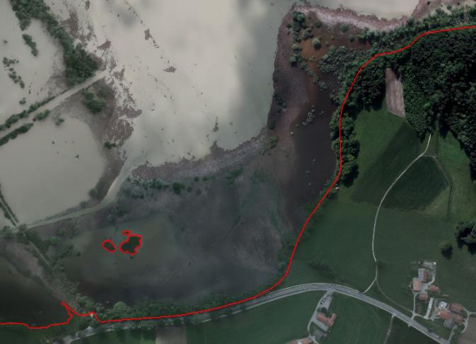Mapování kulminační linie povodně